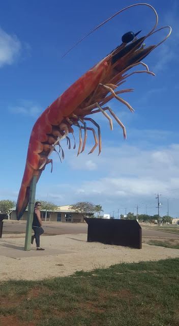 The BIG Prawn in Exmouth   Australian BIG Things