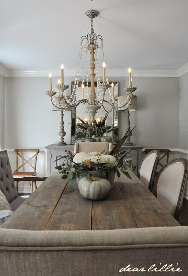 Dear Lillie Some Subtle Fall Touches In Our Dining Room