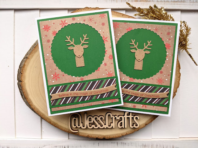 Christmas Card using Michael's Recollections Say Freeze for Jess Crafts Sketch 22