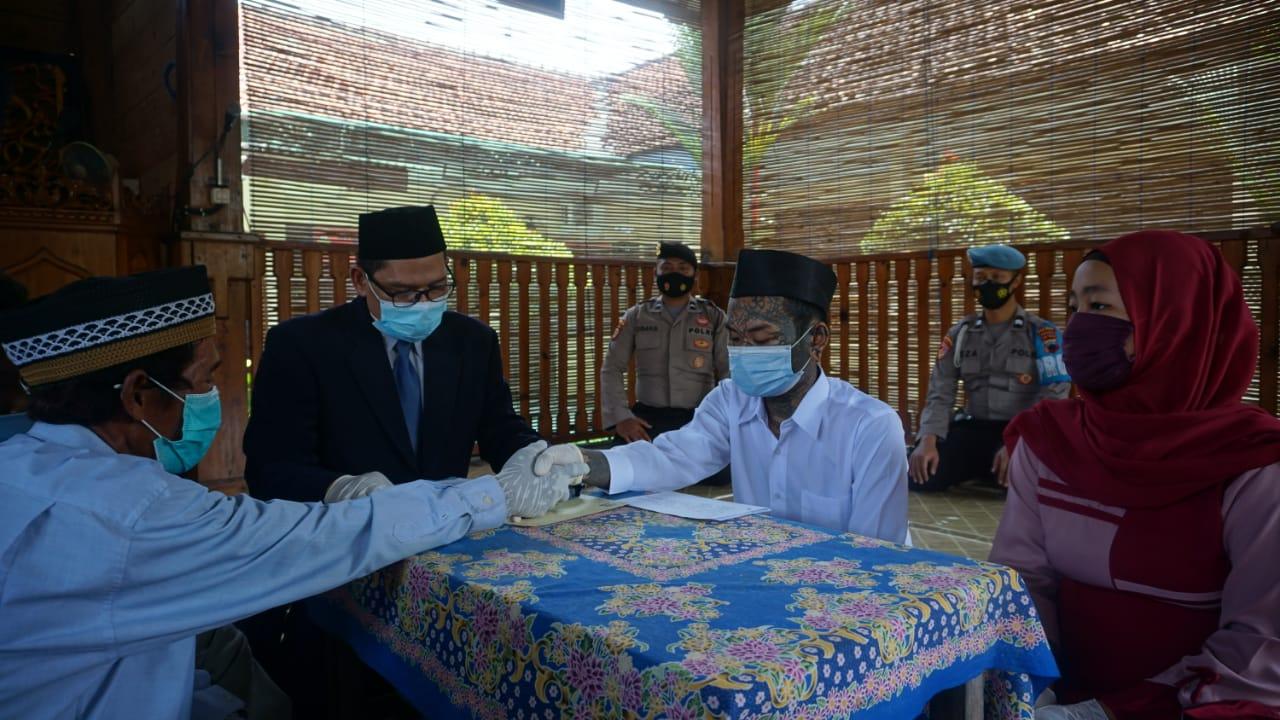 Tahanan Kasus Narkoba Menikah di Polres Purbalingga