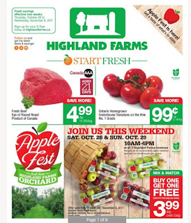 Highland Ontario Flyer October 26 - November 08, 2017