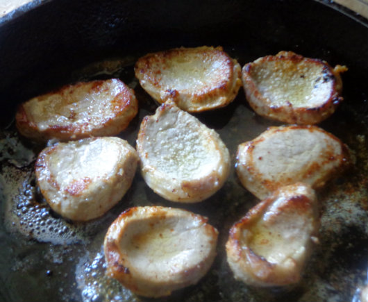 fry veal medallions