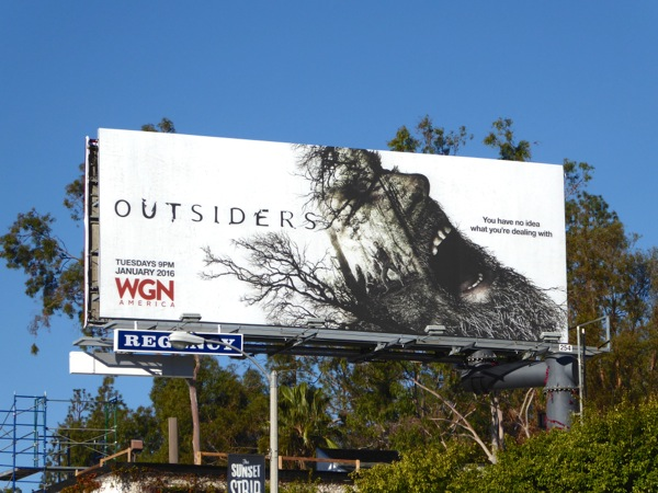 Outsiders series launch billboard