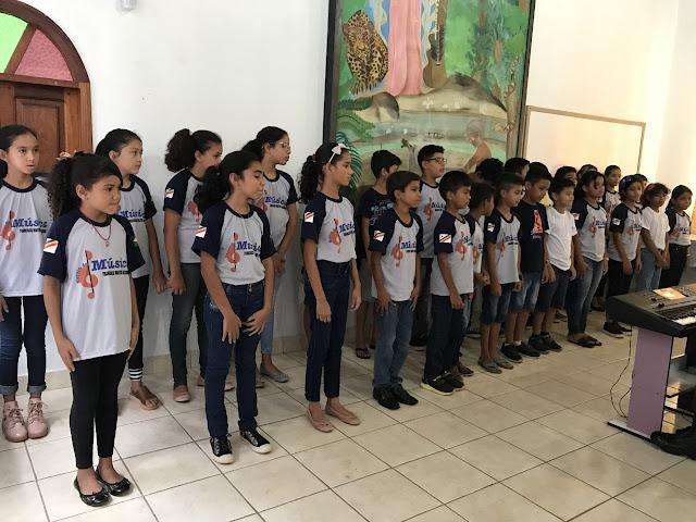"""Encerramento do 1º Semestre da  Escola de Música de Guajará-Mirim """"Francisco Martins do Nascimento"""""""