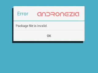 Cara Mengatasi File Paket Tidak Valid Play Store