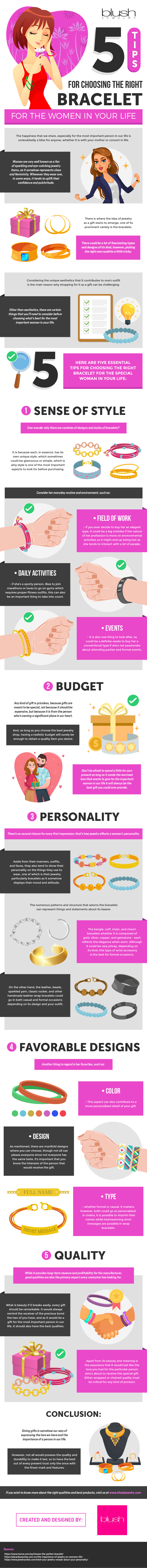 5 Tips for Choosing the Right Bracelet for the Women in Your Life #infographic