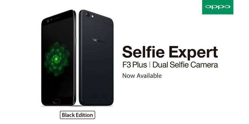 OPPO F3 Plus in Matte Black Now Available at TekPone