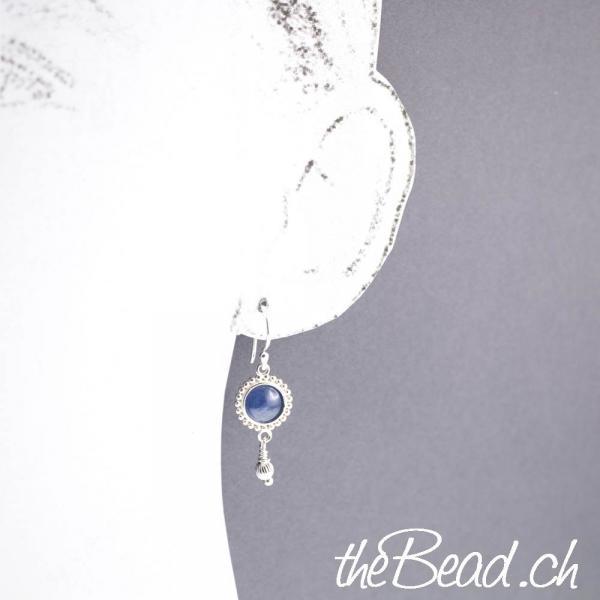 romantische blaue KYANIT Ohrhänger