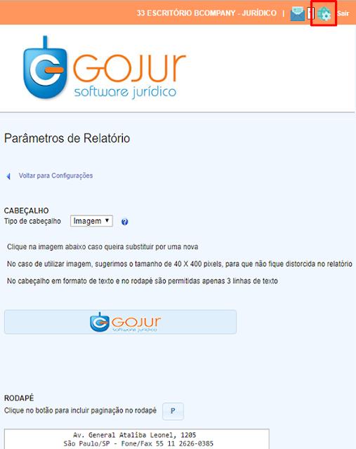 , Novidades GOJUR – Filtros e Configurações de Relatório