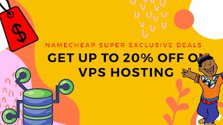 Namecheap VPS hosting promo code or coupon code