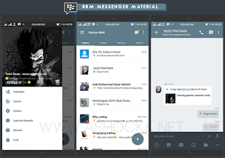 Download gratis BBM Messenger Material Beta V3.0
