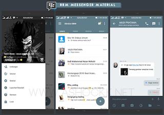 Download gratis BBM Messenger Material Beta V3.0
