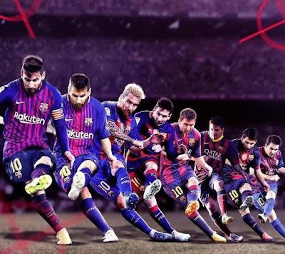 The best free kick taker ever. #messi