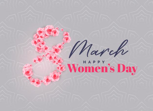 Creative happy women's day vector background Free Vector