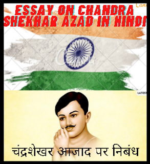 चंद्रशेखर आजाद पर निबंध Essay On Chandra Shekhar Azad In Hindi