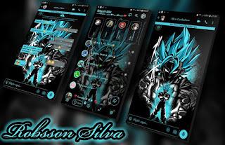Goku Black & Blue Theme For YOWhatsApp & Fouad WhatsApp By Robsson
