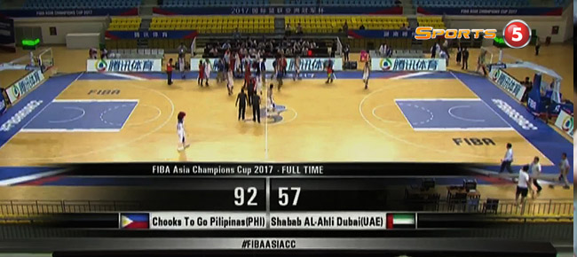 Chooks-to-Go Pilipinas def. Shabab Al Ahli-Dubai, 92-57 (REPLAY VIDEO) FIBA Asia Champions Cup 2017