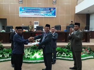 Paripurna DPRD Boltim Sampaikan Rekomendasi LKPJ 2017