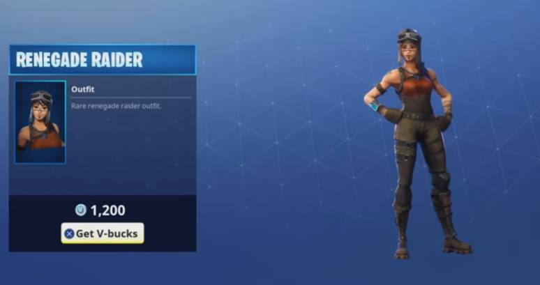 RENEGADE RAIDER fortnite rare skin