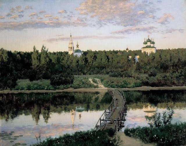 Исаак Ильич Левитан - Тихая обитель. 1890