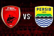 Babak Pertama PSM Makassar Vs Persib Bandung Berlangsung Sengit