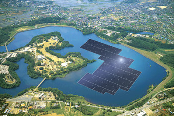 Solar Farm on Japan's Yamakura Dam