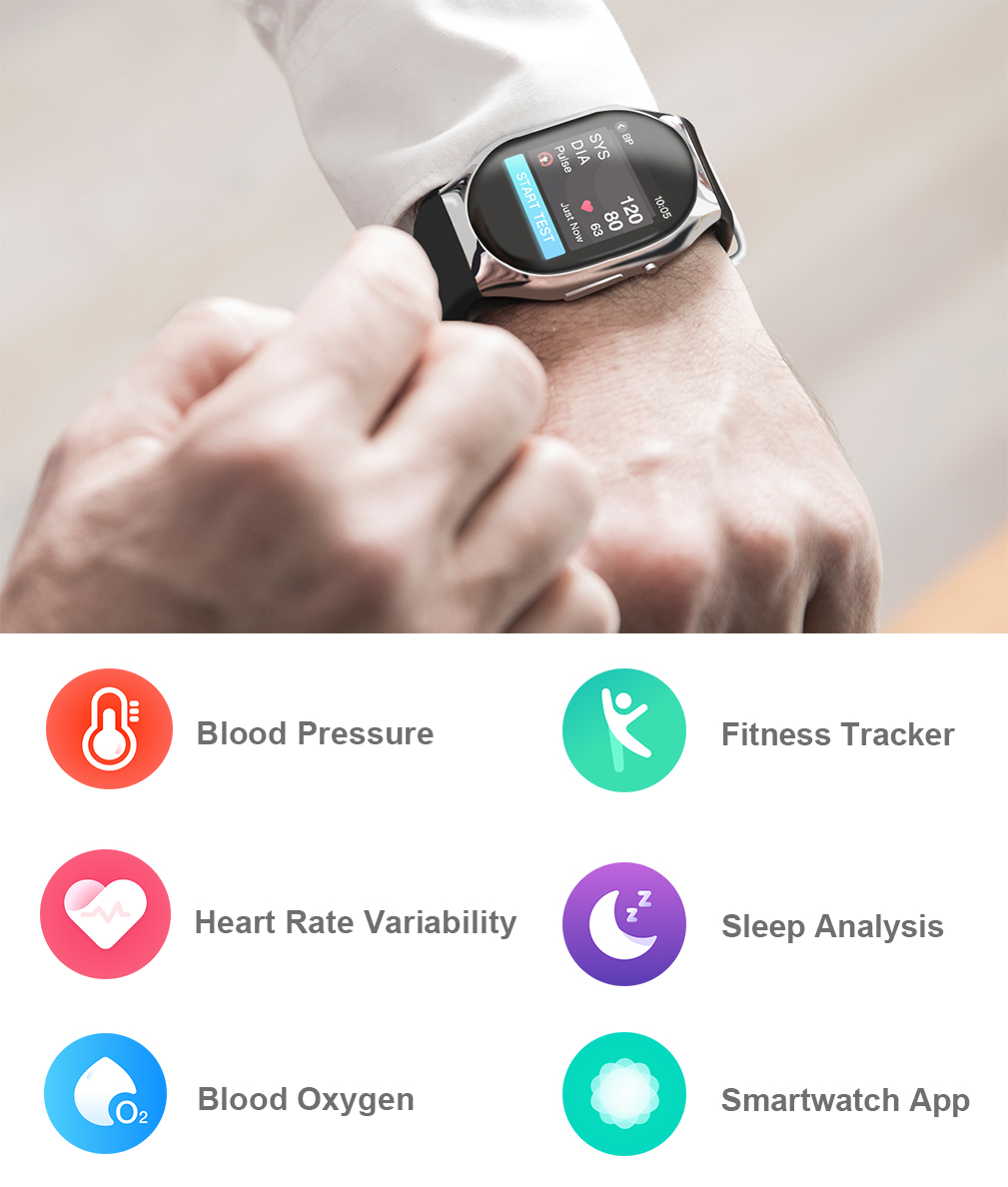 BP Doctor Wearable Blood Pressure Smartwatch