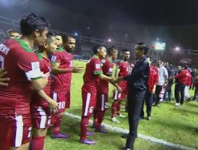 Salam Hangat Presiden Jokowi untuk Timnas Indonesia