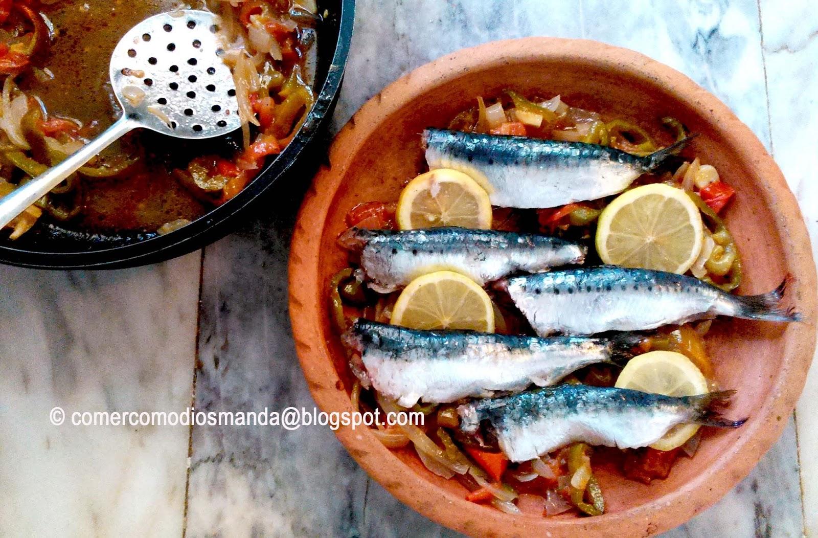 Comer como dios manda sardinas al estilo del mediterr neo - Como cocinar sardinas ...