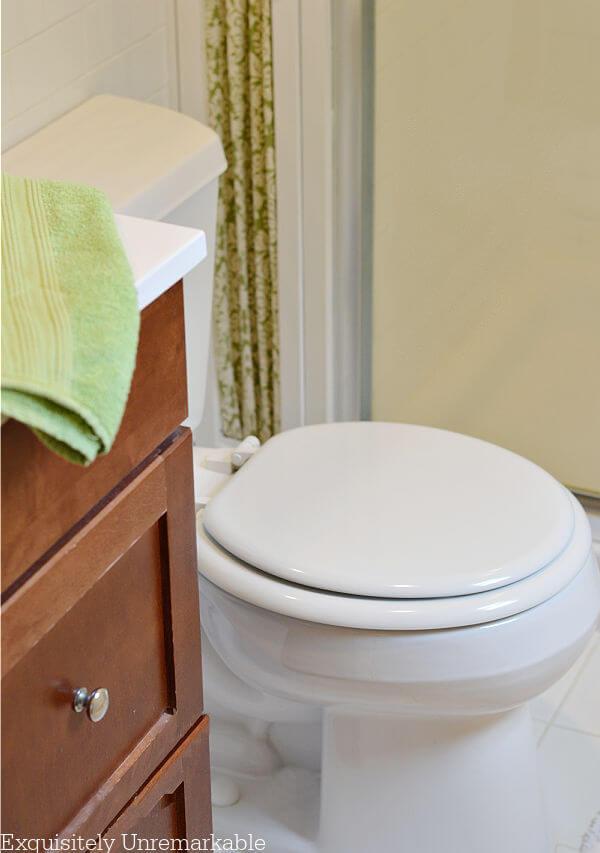 Toilet In A White Bathroom