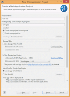 55.3 Google SDK settings for Web Application