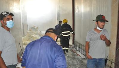"""الدفاع المدني يعلن اخماد حريق بمعمل ألبان """" گاله"""" في كربلاء"""