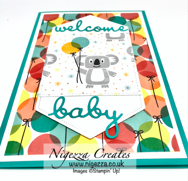 Nigezza Creates with Stampin' Up! Birthday Bonanza New Baby Card