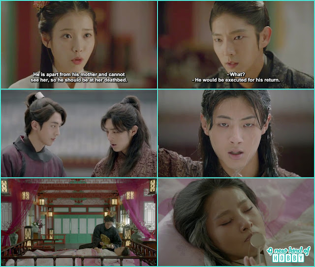 14th prince was standing outside the palace and queen yoo was on strike not eating anything from wang so - Moon Lovers Scarlet Heart Ryeo - Episode 18 (Eng Sub)