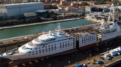 Windstar Cruises' Star Breeze Lengthening, Major Renovations and Engine Replacement in Italy  Star Pride Star Legend