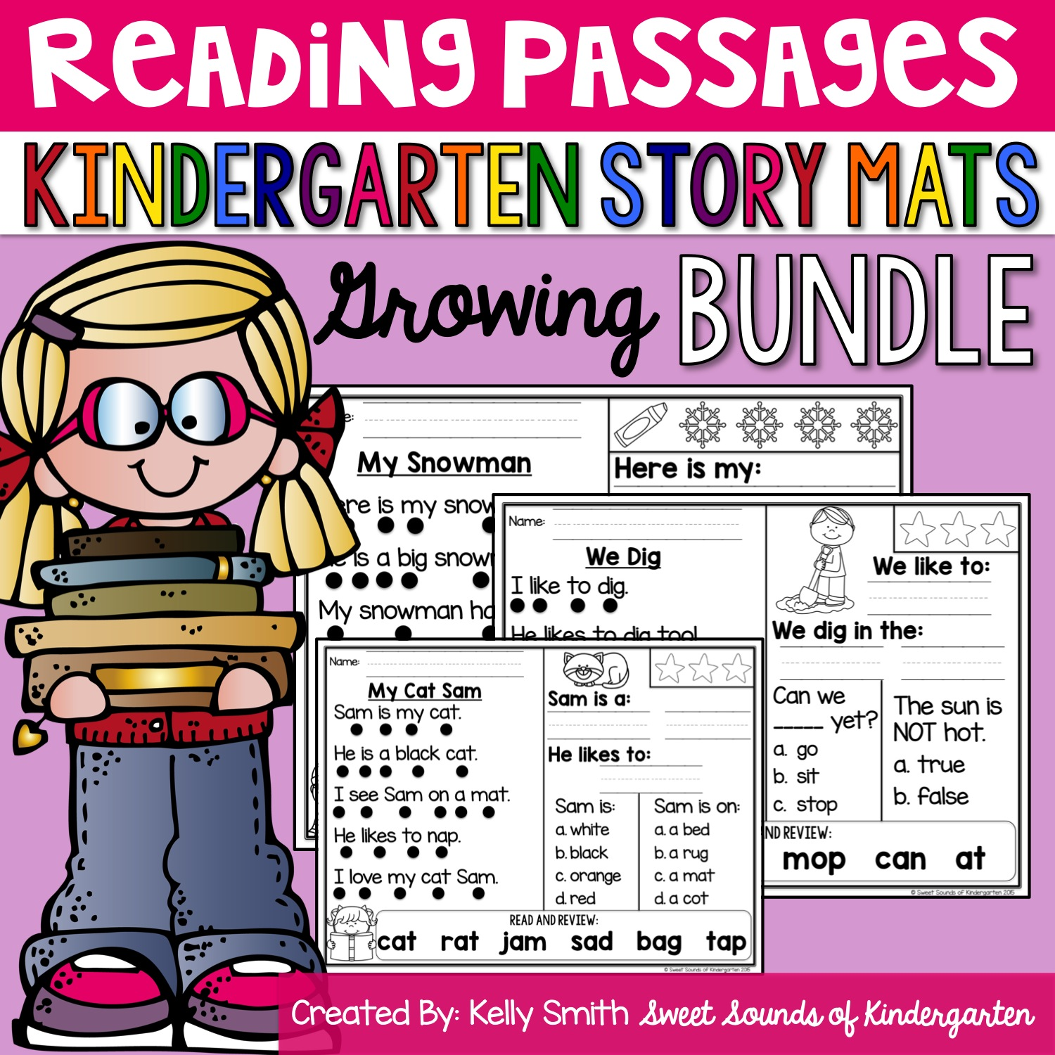 The Primary Pack Kindergarten Reading Comprehension