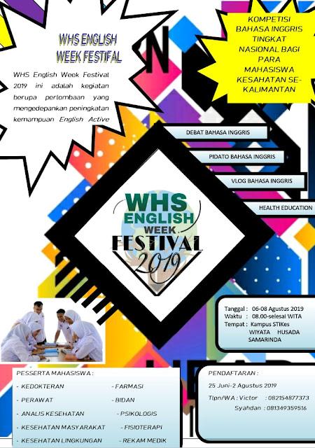 July 2019 Whs English Week Festival 2019