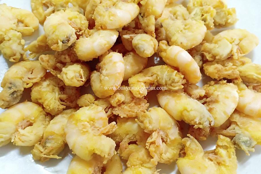 resepi udang masam manis, penambah selera sahur, resepi ringkas, udang masak cili kering, udang celup tepung,