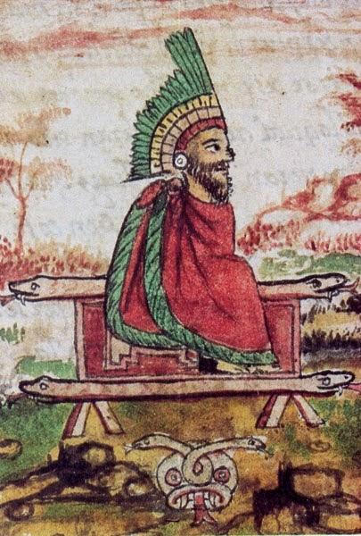 Resultado de imagen de Quetzalcoatl, otro dios descrito como alto, barbudo y con ojos azules.