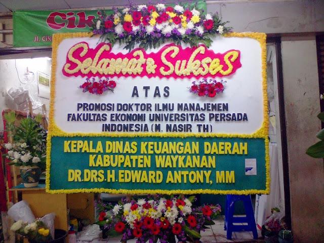 Contoh Ucapan Selamat Dan Sukses Bunga Papan