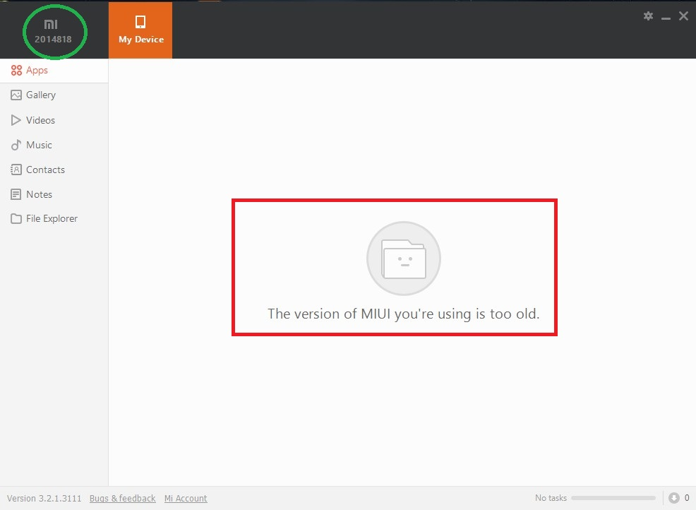 Mi PC Suite and USB connection problems: not detected and