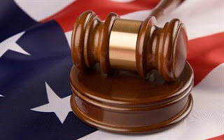 Gavel and US Flag