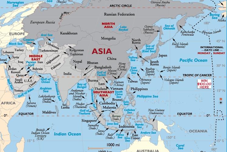 Gambar Peta Benua Asia