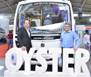Ashok Leyland Launches its Next Generation A.C. Midi-Bus - Oyster, in India