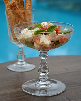 Uma salada refrescante que é a cara do verão
