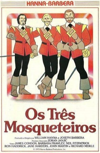 Animação em Foco: Os Três Mosqueteiros (The Three Musketeers) Hanna Barbera 1968
