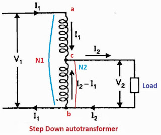 Step down autotransformer diagram
