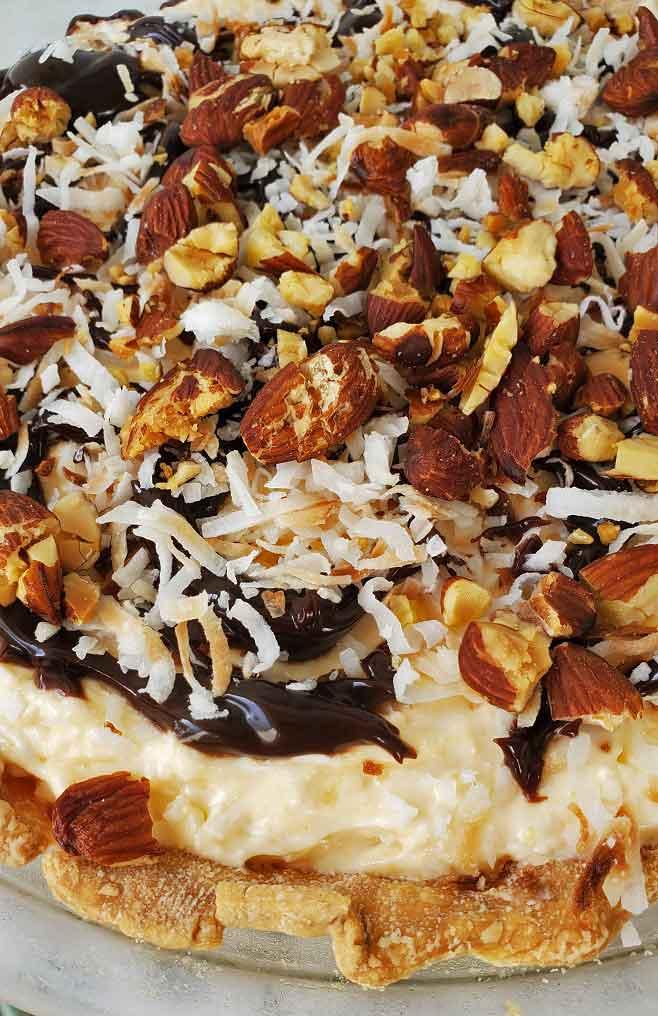 ALmond Joy Pie no bake recipe
