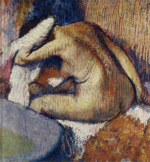 Эдгар Дега - Женщина. вытирающая тело (1896-1898)