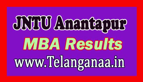 JNTU Anantapur MBA Regular Exam Results